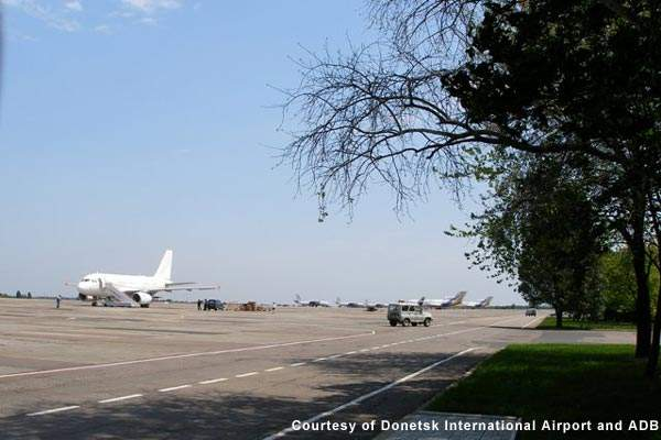 The Donetsk International Airport primary runway was extended so that it can take larger aircraft.