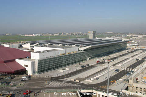 Frederic Chopin International's T2 was integrated with the older terminal 1 built in 1992.