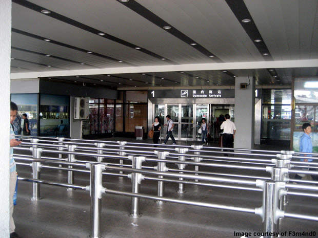 Hongqiao airport's domestic passenger flight gate.