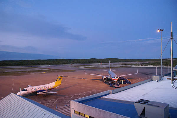 The airport's air centre can concurrently store up to 60 aircraft. Image courtesy of Turks and Caicos Islands Airports Authority.