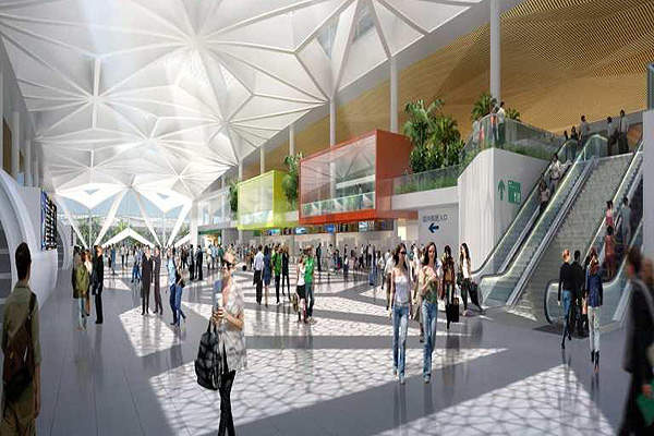 The Haikou Meilan international airport features beautiful green environment and sustainable features. Image courtesy of ©ADPI.
