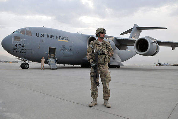 The airport also serves as an army base of US NATO forces.
