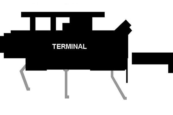 Layout of the existing terminal building at ACA. Image courtesy of Microstar.