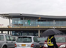 A view of the new international terminal, prior to completion of construction. Image courtesy of Mr tobi.