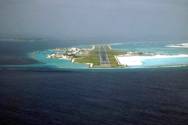 There is no road access to the airport. Passengers reach MLE from Malé by water ferries and airline services.