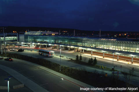 The facilities have improved to the extent that the Manchester-Boston Airport handles around four million passengers a year.
