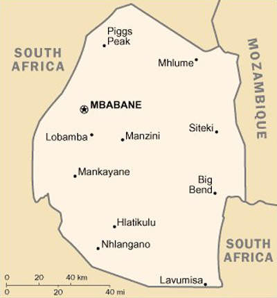 Swaziland is currently serviced by Matsapa Airport, which can only handle transatlantic or intercontinental flights and serves largely as a charter airport for small regional carriers.