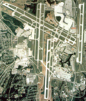 An aerial view of Nashville International.