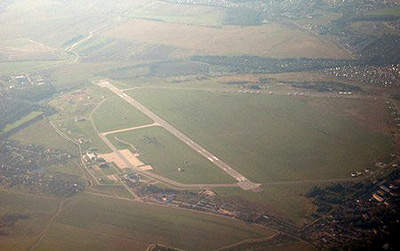 Only one of the runways is currently used at Vnukovo Airport.