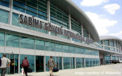 Sabiha Gokcen International Airport is one of two key airports in Istanbul, Turkey.