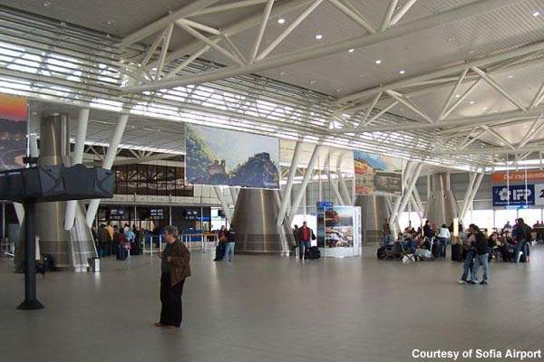 Terminal two at Sofia Airport has a capacity of 2.6 million passengers a year.