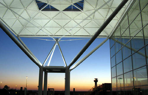 Stansted's award-winning design remains distinctive and effective.
