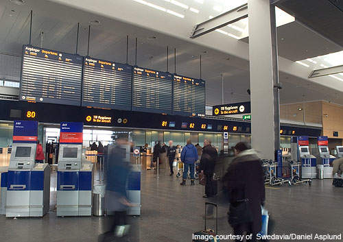 It is one of the top three airports in Scandinavia by size and is the largest airport in Sweden.