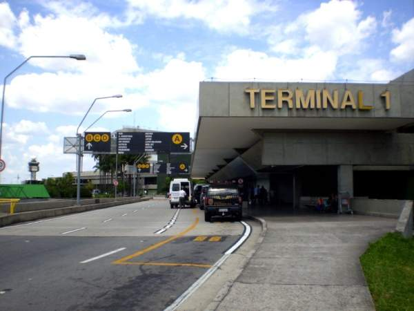Terminal one of the São Paulo-Guarulhos International Airport is spread over 87,850m2. Image courtesy of Bruno Dantas.