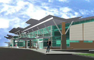 The new Rogue Valley Airport terminal building / extension.