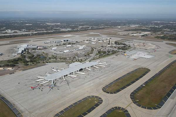 The Tampa International Airport has four active airside terminals, which include Airsides A, C, E and F. Image courtesy of Tpa ops27.