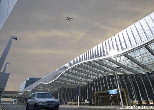 Terminal two exterior. Credit: HKIA.