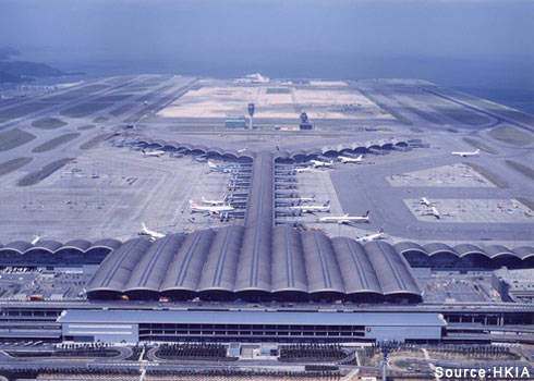 Hong Kong International's main terminal is an impressive sight. Credit: HKIA.