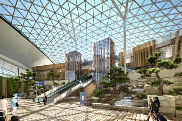 The Terminal 2 roof will be fitted with solar panels to reduce energy consumption.