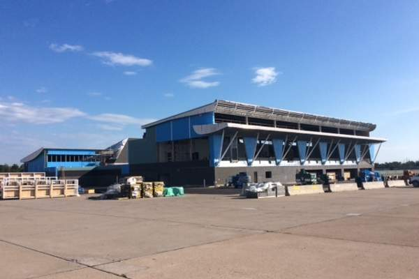 A new concourse has been built as part of the terminal expansion. Image courtesy of Plattsburgh International Airport.