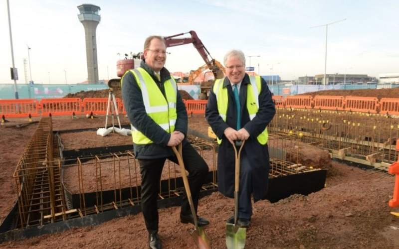 Ground for the redevelopment project was broken in January 2016. Credit: London Luton Airport.