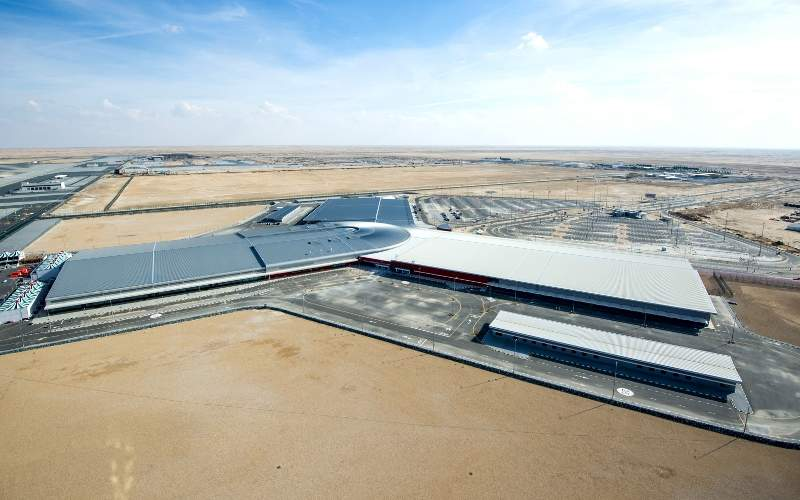 The airport's passenger terminal expansion was initiated in March 2016.