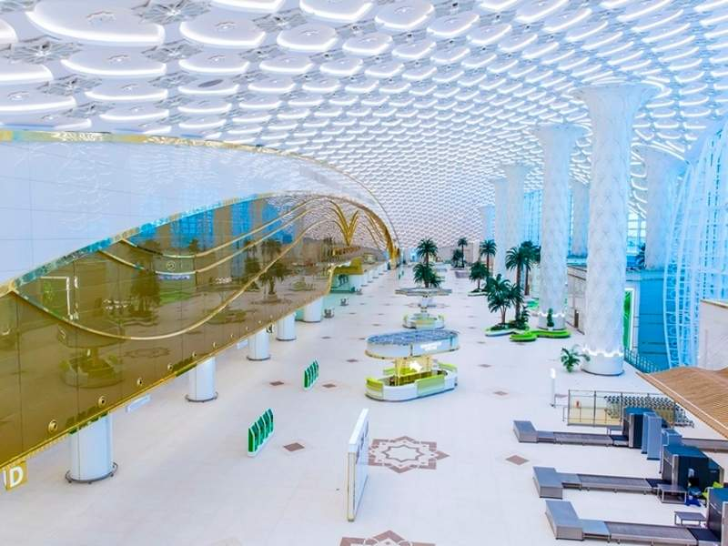 The terminal is equipped with a wide range of passenger facilities. Image courtesy of Ashgabat.
