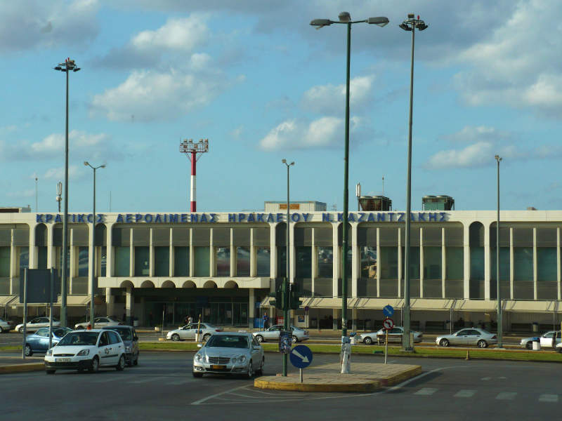 The current Heraklion International Airport in will be replaced by the new Kastelli International Airport. Image courtesy of Mietek Ł.