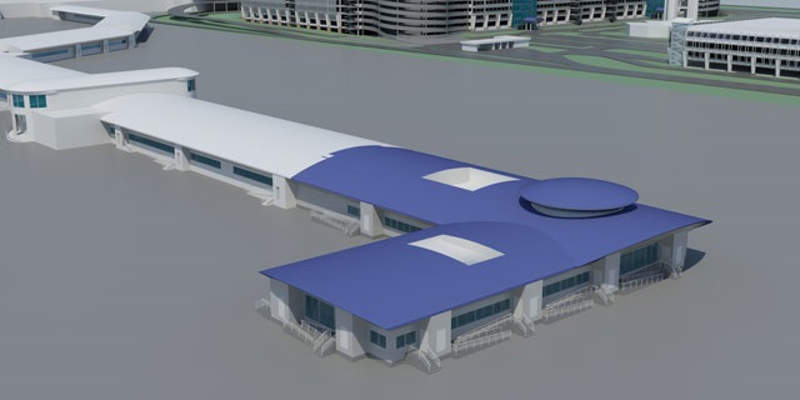 Artist's rendering of the expanded concourse E. Image courtesy of Charlotte Douglas International Airport (CLT).