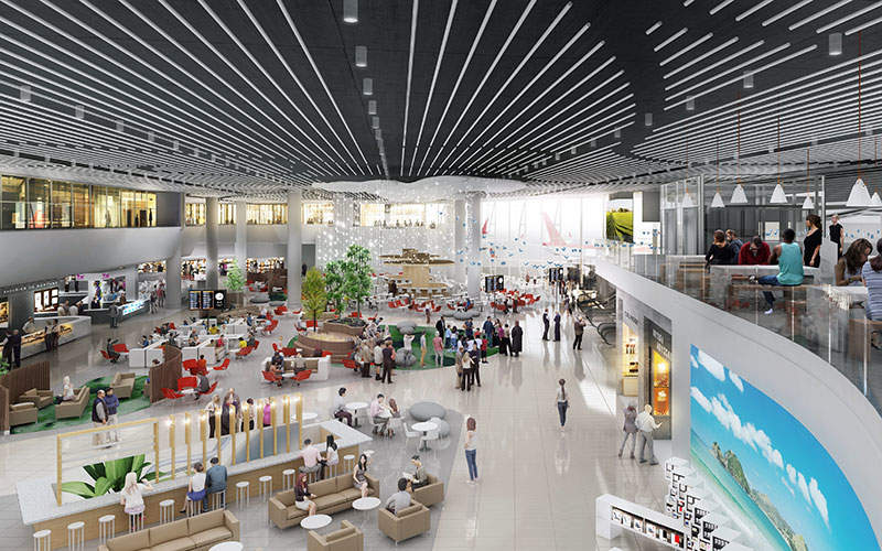 A new retail area will provide more shopping options to passengers. Image: courtesy of Auckland International Airport.