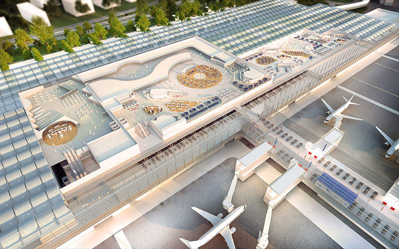 The transformation will add more space to the existing terminals. Image courtesy of the Manchester Airports Group plc.