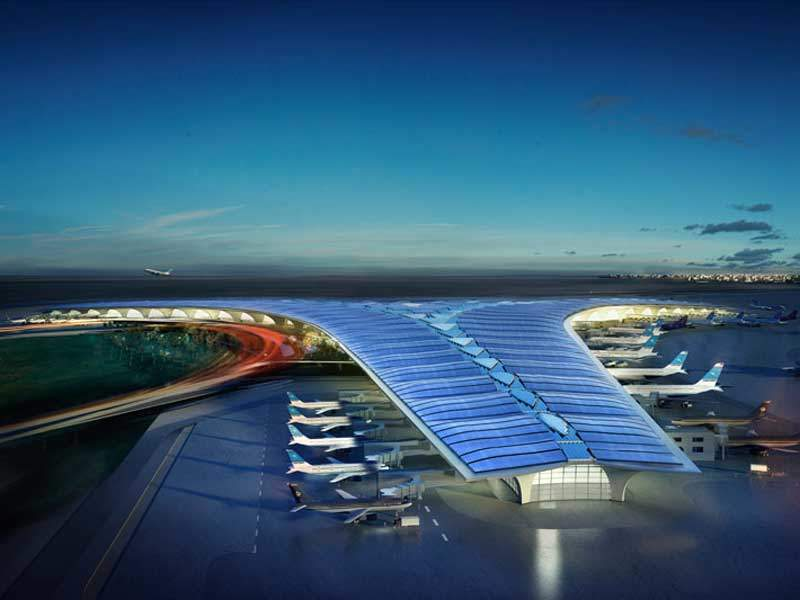 The terminal will feature between 30 and 51 contact stands in the first phase. Credit: Directorate General of Civil Aviation, State of Kuwait.