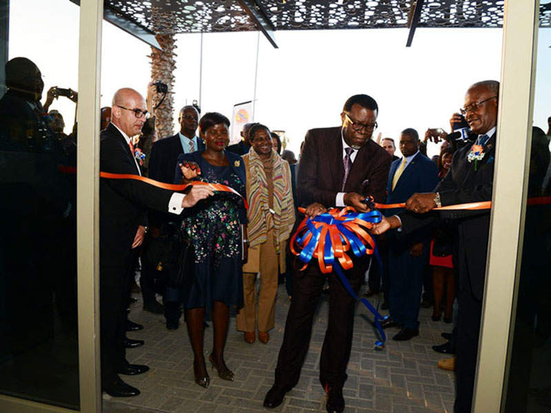 The new terminal at the airport was inaugurated by the Namibian President. Image courtesy of Namibia Airports Company.