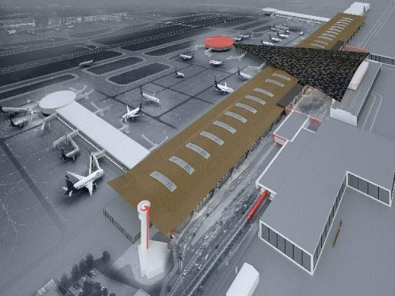 The new terminal will feature 19 boarding bridges. Image courtesy of Sheremetyevo International Airport.