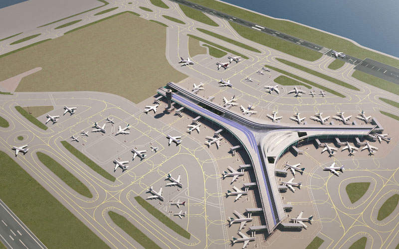 The 3RS project includes the construction of a new runway. Credit: Hong Kong International Airport.