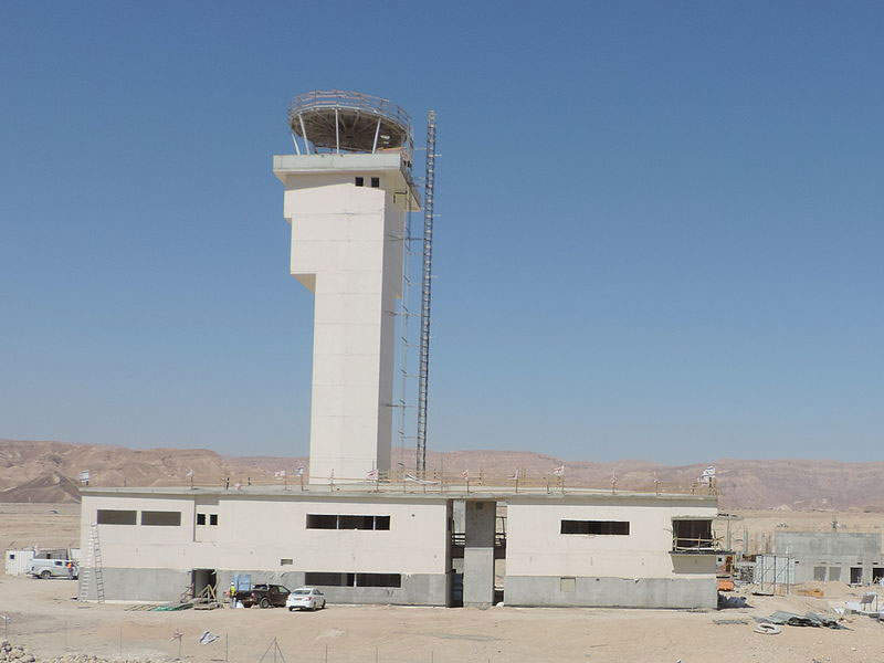 The Eilat Ilan and Assaf Ramon Airport features a 45m-tall control tower. Image courtesy of Oyoyoy.