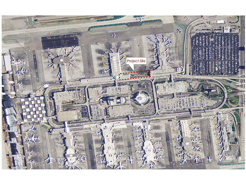The project site for the proposed Terminal 1.5 is within the central terminal area. Image: courtesy of Los Angeles World Airports.