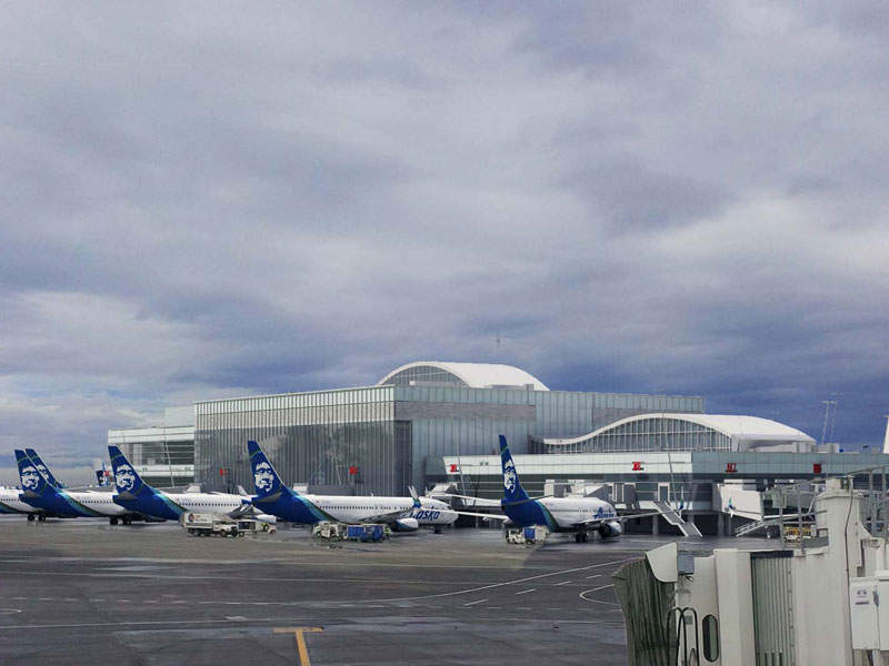 The North Satellite terminal at Seattle-Tacoma international airport will be expanded by 240ft to the west of the building. Image courtesy of Port of Seattle.