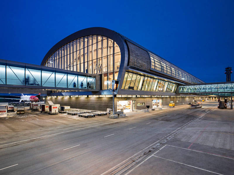 The expansion added a new pier to the airport. Image courtesy of NORDIC Office of Architecture/Ivan Brodery.