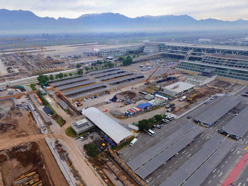 The Santiago International Airport expansion will increase the airport's annual passenger capacity to 30 million by 2020. Image: courtesy of VINCI Concessions.