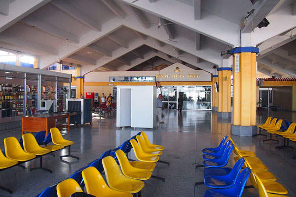 The airport handled 1.3 million passengers in 2013.