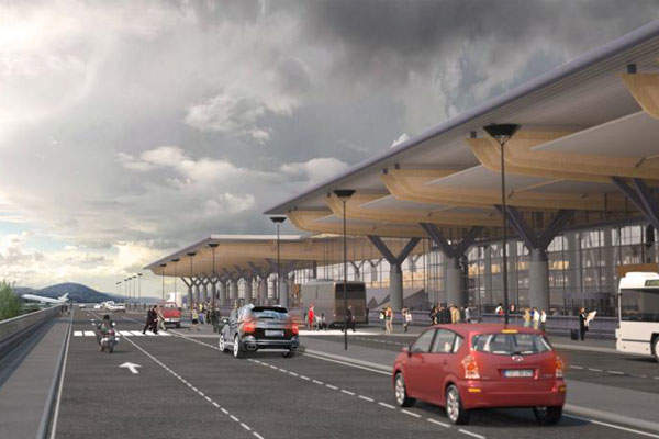 The Terminal project also involved improvements to the forecourt areas.