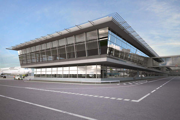 The terminal expansion project includes the construction of a two-storey new terminal building. Image courtesy of Riga International Airport.