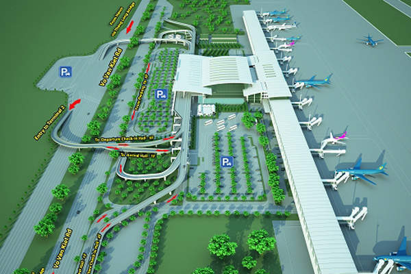 The new terminal has a capacity to handle 10 million international passengers a year. Image courtesy of Airports Corporation of Vietnam.