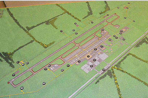 """The layout of the new Yuzhny airport complex. Image: courtesy of FSUE """"Aeroproject""""."""