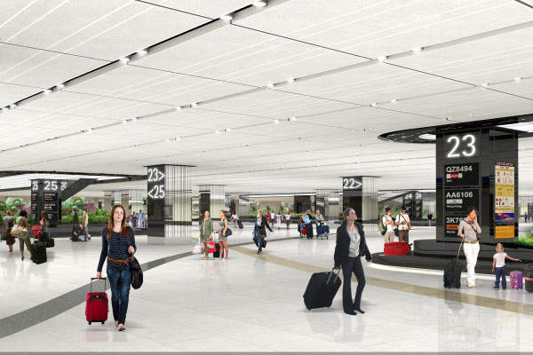 The terminal 1 expansion includes revamp of departure check-in hall and upgrade of the baggage claim hall.
