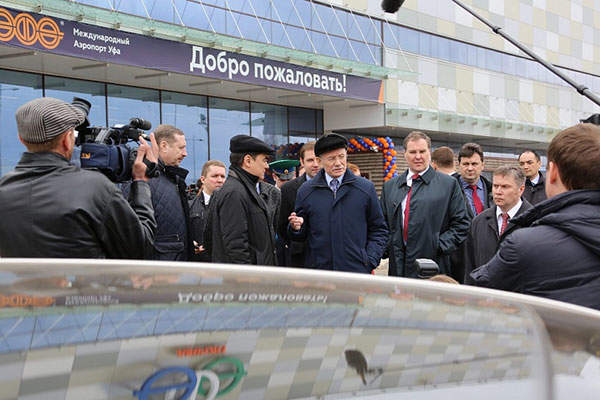 The new terminal was inaugurated by Head of the Republic of Bashkortostan. Image: courtesy of Ufa International Airport.