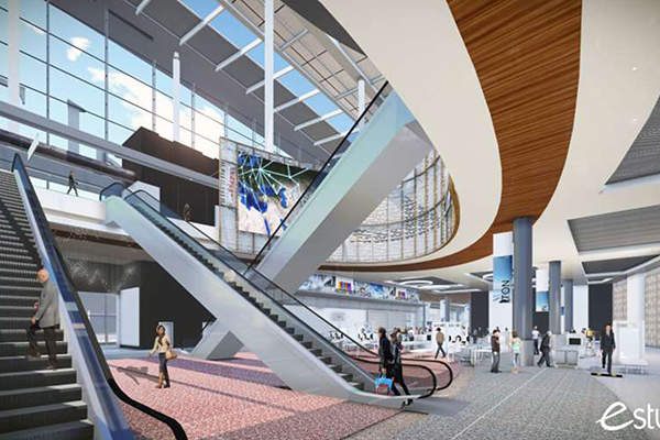A rendering of the new state-of-the-art terminal at Bush Intercontinental Airport. Image: courtesy of Houston Airport System.