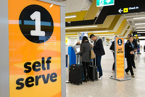 Terminal 4 is the first completely self-service check-in operation terminal in the Asia Pacific region. Image courtesy of SDP Media.