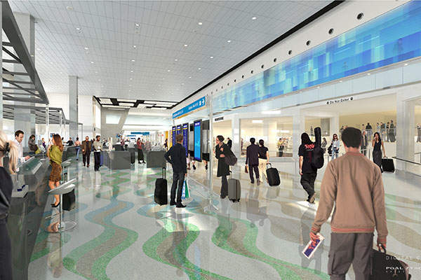 The floor space inside the terminal will be enhanced to accommodate more concessions and food outlets.